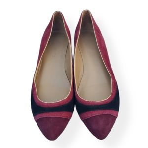 Talbots Shoes 7M Red Burgundy Pointed Slip On Flat